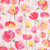Pink & Yellow Flowers Leading Brand 100% Cotton Fat Quarter FQ Quilting, Bunting, Craft Fabric FQ134B