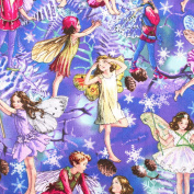 Christmas Angels Leading Brand 100% Cotton Fat Quarter FQ Quilting, Bunting, Craft Fabric FQ128A