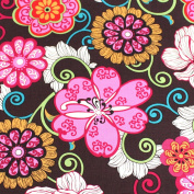 Floral Leading Brand 100% Cotton Fat Quarter FQ Quilting, Bunting, Craft Fabric FQ131A