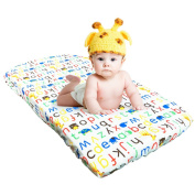 Changing Pad Cover - Waterproof Crib Mattress Cover Cotton Nappy Change Table Pad Cover for Baby Boys Girls by YOOFOSS