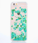 iPhone 6S Plus Case [With Free Tempered Glass Screen Protector],Mo-Beauty® Colourful Flowing Liquid Floating Flowing Bling Shiny Sparkle Glitter Crystal Clear Protective Shell Case Cover For Apple iPhone 6 Plus/iPhone 6S Plus 14cm