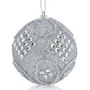 Ouneed 8CM Christmas Rhinestone Glitter Baubles Balls Xmas Tree Ornament
