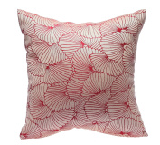 HYSENM 50cm x 50cm Elegant Dual-Sided Floral Anti-Fading Wedding Christmas Decorative Throw Pillow Cushion Sham Cover, purple, 50cm x 50cm
