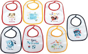 7 Peice Babies Baby Bibs Boys Girls Towelling Frot PEVA Back