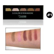 CHshe GARMISS 5 Colours Eye Cosmetic Make Up Beauty Eyeshadow Palette, Portable Shimmer Complexion Eyeshadow