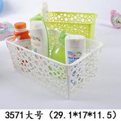 Storage basket / storage basket / CD storage blue / plastic basket / fruit and vegetable blue, green, large 3571 135 grammes