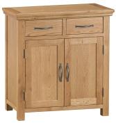 Alberta Oak Small 2 Door 2 Drawer Sideboard
