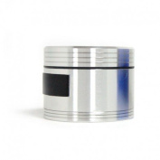 Silver-plated and Black Aluminium Grinder Kitchen 3 Parts Opening 61x48 Index
