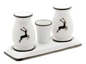 Gmundner Keramik Salt and Pepper Set, Deer Grey