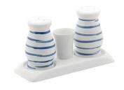 Gmundner Keramik Salt and Pepper Set, Dizzy Blue