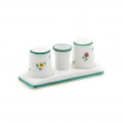 Gmundner Keramik Salt and Pepper Set, Alpine Flowers