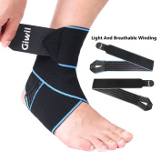 Ankle Support, Giwil Adjustable Ankle Brace Breathable Nylon Material Super Elastic and Comfortable One Size Fits all, Perfect for Sports, Protects Against Chronic Ankle Strain, Sprains Fatigue etc