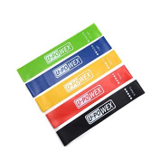 Resistance Loop Bands,Exercise Bands Set of 5 for Improving Mobility and Strength,Yoga,Pilates or for Injury Rehabilitation
