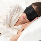 ALASKA BEAR - Contoured sleep mask with silk travel pouch and luxury black gift box