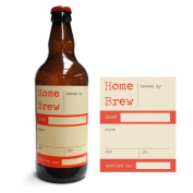 Home Brew Online Premium Quality Water Proof Labels - Home Brew In Red 40 Pack
