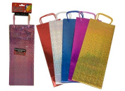 Holographic Gift Wine Bottle Bag - Assorted Colours - Pack of 3