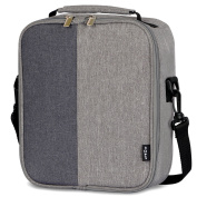 Lifewit Grey Lunch Box with Adjustable Shoulder Strap for Men / Kids / Boys, Insulated Lunch Bag for Office / School / Picnic
