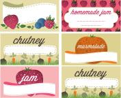 Nutley's Jam and Preserve Jar Labels