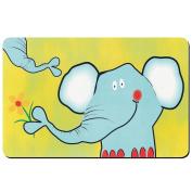 "Kela ""Elephant"" Placemats, Plastic, White/Yellow, 43 x 28.5 cm"