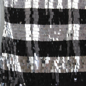 Sequin Insert/Front Sewing Black/Silver Stripes
