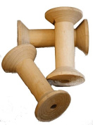 Threading-Yarn-Wire-Crafts-Sewing-Spools-Reels LARGE WOODEN BOBBINS