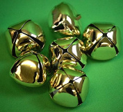 Christmas-Crafts-Cakes-Bridal Craft-Sewing-Dressmaking-Trimming-Decoration-Sewing Bee GOLD BELLS - Pack Of 3 Or 6