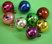 Christmas-Crafts-Cakes-Bridal Craft-Sewing-Dressmaking-Trimming-Decoration-Sewing Bee MULTICOLOURED BELLS - Pack of 8