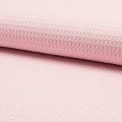 Dress Fabric Waffle Cotton Plain Pink 1,50 m width