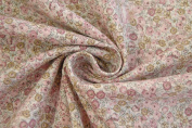 Hilco Cotton Fabric 'Ylvie Flower Dusky Pink Natural White 0.5 m