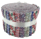 Fabric Freedom Floral Blenders Jelly Baby Roll, 100% Cotton, Multicoloured, 9 x 9 x 7 cm