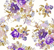 Soimoi 110cm Inches Wide Floral Printed 130 GSM Moss Georgette Fabric By The Metre - Blue