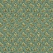 Cotton fabric - Metre - Andover - Crystal Farm - Elderberry Teal