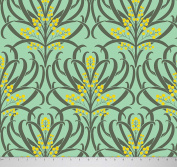 Soimoi 150cm Inches Wide Floral Printed 180 GSM 2 - Way Stretch Velvet Fabric For Sewing By The Metre - Sea Green