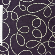 Rasch Curtain Decorative Fabric Embroidery Fabric By the Metre Fly Way Aubergine 140 cm