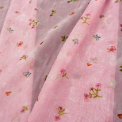 Curtain Voile Fabric Pink Lilly The Lillifee Butterfly/Flower Eblum Hearts H