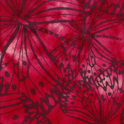 Cotton Fabric - Metre - Fabric Freedom - Melody - Butterflies Red