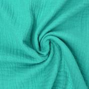Dress Fabric Double Gauze Muslin Nappy Plain Turquoise)