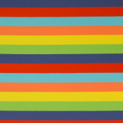JERSEY FABRIC - Multi-Coloured Rainbow Stripe 2 - Jersey Fabric - SWAJ47 - By 0.5 Metre - By Swafing