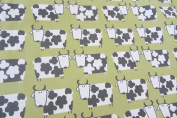 """Moo Daisy Cows Cotton Fun 140cm/54"""" Designer Material Sewing Upholstery Curtain Craft Fabric"""