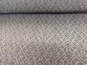 "Maze Aztec Beige/Grey Linen Weave 140cm/54"" Designer Material Sewing Upholstery Curtain Craft Fabric"