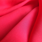 Bright Scarlet Red Chiffon Fabric - Woven sheer material - 150cm wide - Sold by the metre