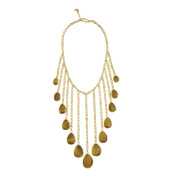 Pippa Small Gold Plated Sterling Silver Qatra Necklace of 18-34cm