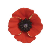 Brooches Store Small Red Enamel and Crystal Peace Poppy Brooch