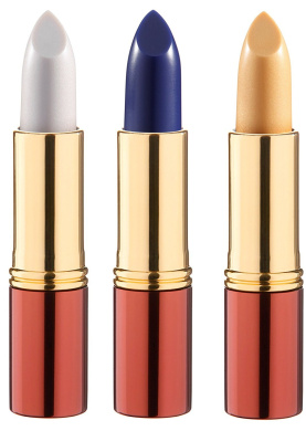 3 x Ikos Thinking Lipstick Pearl Pink Apricot and Aubergine DL1, DL4, DL3