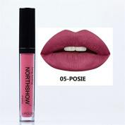 ThinkMax Women Fashion Waterproof Matt Lip Glaze Lipstick Beauty Makeup, Nonstick Cup, Colour Uniform