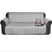 Quilted sofa slipcover water proof pets kids upgrade furniture protector mat-B 53x183cm