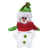 Xmas Candy Jar Christmas Candy Decoration Santa Claus Tree Storage Bin Can Bottle Tank