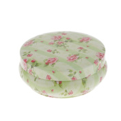 Welim Floral Cans Tinplate Cans Tea Container Sugar Cans Sealed Cans Apply to tea and candy or biscuits and so on Printed with a rose pattern Round