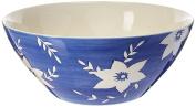 25cm White Blossoms Bowl by Hues & Brews