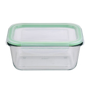 Bergner Storage Container Square, Green, 13 x 13 x 8 cm
